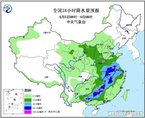 中东部7省区有暴雨 华南高温闷热
