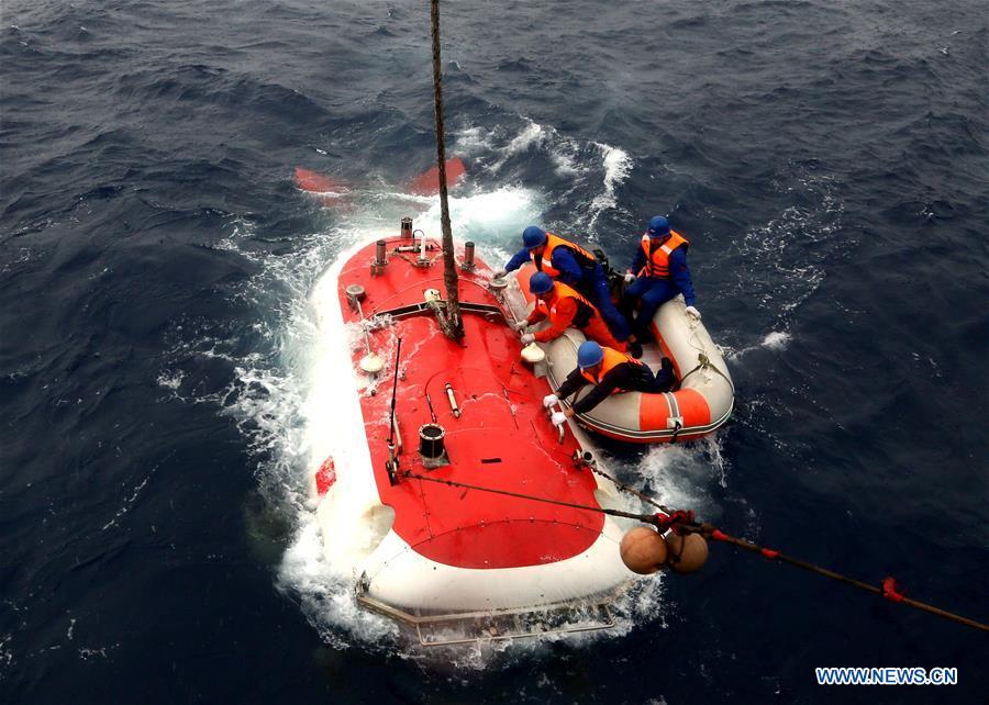 La première plongée cette année du submersible chinois Jiaolong dans la fosse de Yap