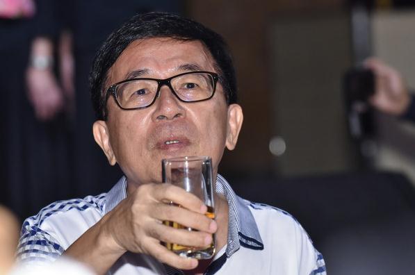 陈水扁5月19日出席凯达格兰基金会募款餐会