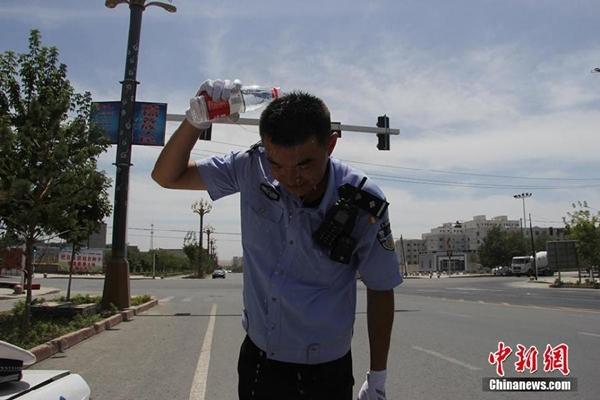 درجة الحرارة فى شينجيانغ تبلغ 70℃