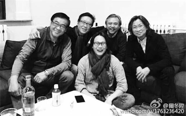 前排:许宏宇;后排左起:尔冬升、刘伟强、陈嘉上、陈可辛(图片来自尔冬升微博)