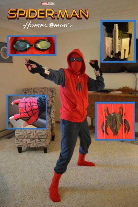 国外的有才网友们在纸上大画蜘蛛网,动物小蜘蛛的形状来进行衣服的