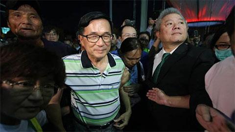 陈水扁阵营施压蔡英文:不特赦就跳楼_新闻频