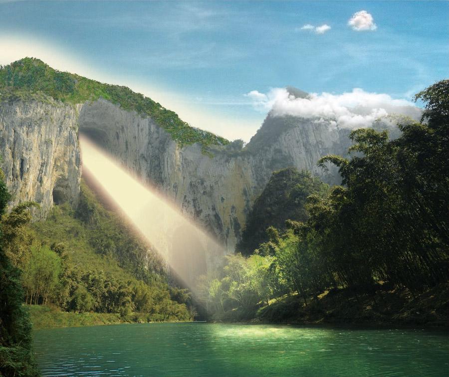 壁纸 风景 旅游 瀑布 山水 桌面 900_756