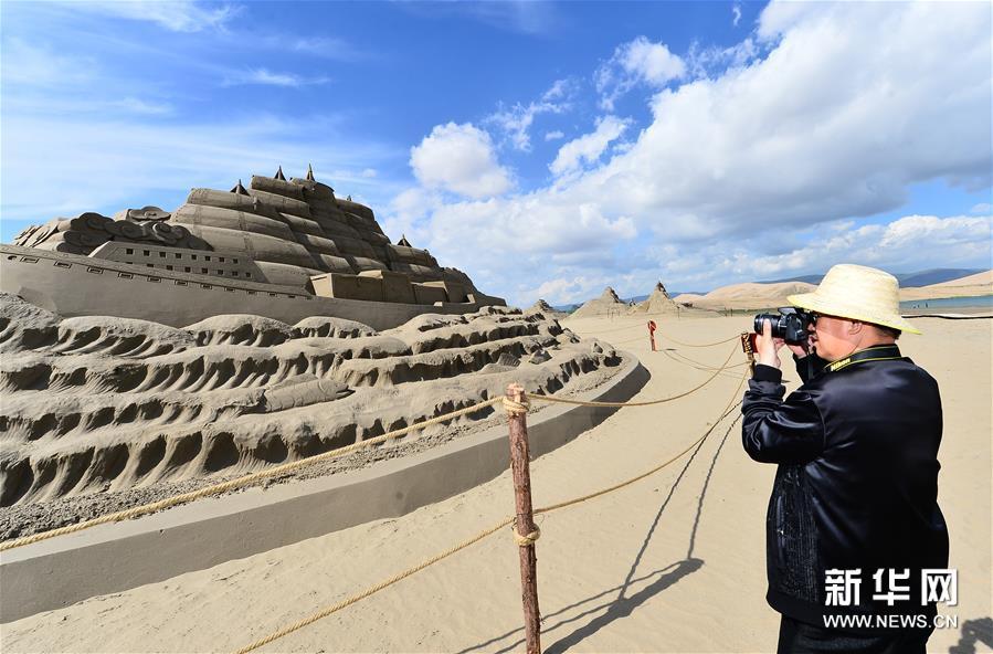 (社会)(2)青海湖畔:壮观沙雕 静待游人