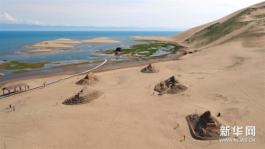(社会)(3)青海湖畔:壮观沙雕 静待游人