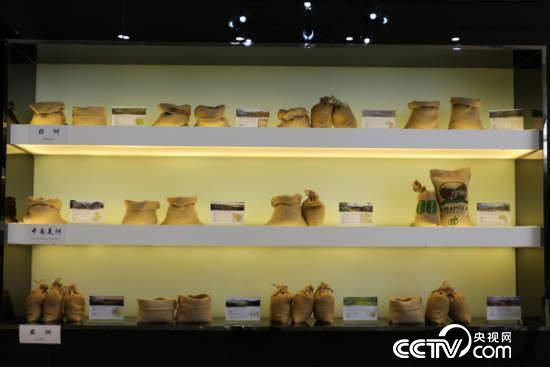 重庆咖啡交易中心展厅。(央视网 记者何川摄)