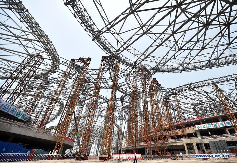 Le nouvel aéroport international de Beijing prend forme et sera mis en service en 2019