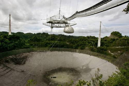资料图:阿雷西博天文台(Arecibo Observatory)。图片来源:美联社