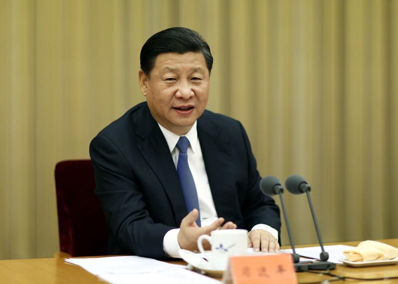 11月27日至28日,中央扶贫开发工作会议在北京召开。中共中央总书记、国家主席、中央军委主席习近平发表重要讲话。新华社记者 鞠鹏 摄