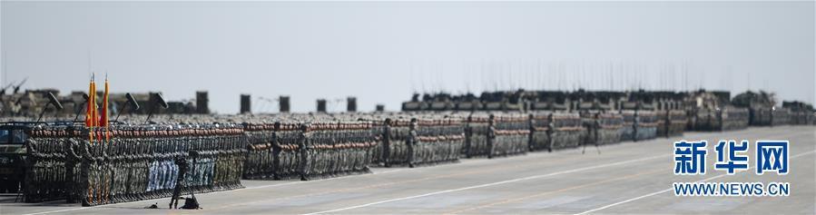 这是受阅部队。新华社记者 王建华 摄