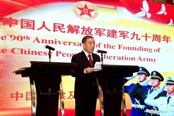 السفارة الصينية بالقاهرة تحتفل بالذكرى الـ90 لتأسيس جيش التحرير الشعبي الصيني