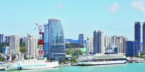 位于湖里片区的国际邮轮母港正成为区域发展的新增长点。