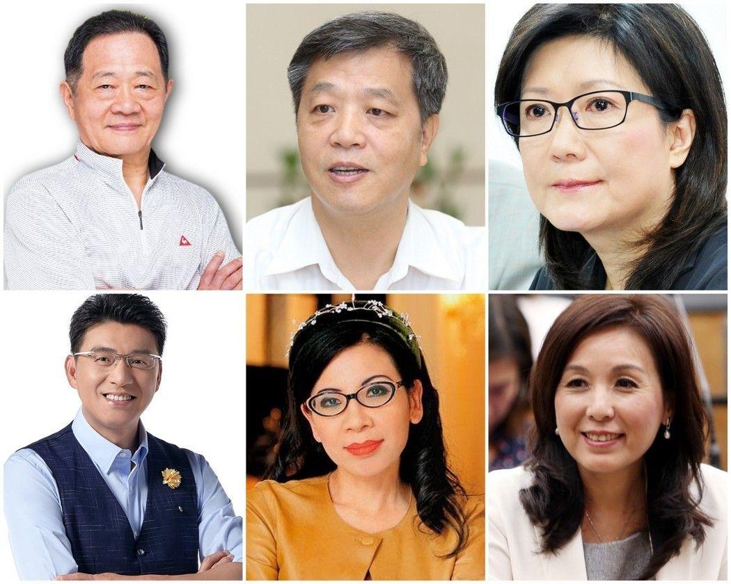 图左上至右下分别为:李锡锟、陈雄文、李庆安、谢震武、陈文茜、李纪珠。
