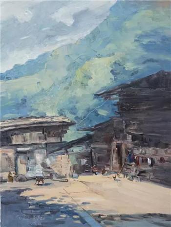 巴山蜀水——卢泰宇2017风景写生油画作品欣赏