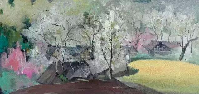 """《彻下梨花一堆雪》布面油画 50cm/100cm   英国的贡布里希有一个著名的观点:""""没有艺术,只有艺术家。""""我对这句话的理解有两个方面,其一、从原始的洞穴壁画到塞尚、凡高、髙更的后印象派,从古典主义到现代主义以及平行发生的后现代主义,从意大利文艺复兴人文主义的铺天盖地到出生于法兰西的美国实验艺术家亨利."""