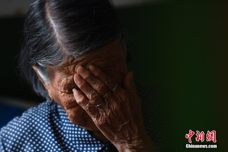 Hao Yuelian, 90, recalled on Aug. 15 in Qingxu County, northern China's Shanxi province, the humiliation of being forced to be a sex slave for Japanese invaders during World War II.