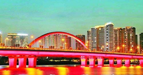 日圆桥 中国红