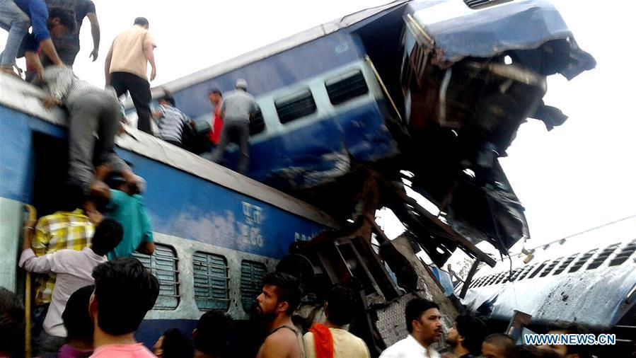 23 personnes tuées, 40 autres blessées dans un accident de train en Inde