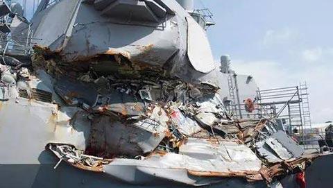 """""""菲茨杰拉德""""号驱逐舰受损严重"""