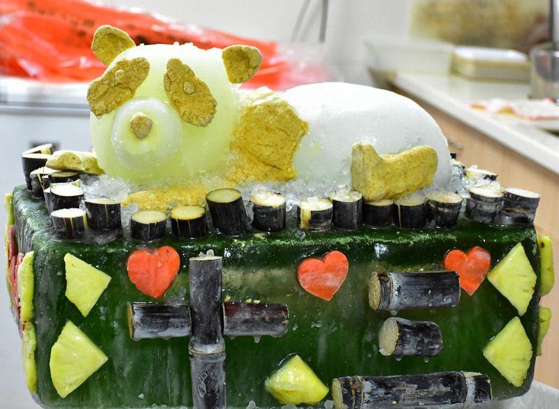专属的特制蛋糕。(图片来源:台北市动物园)