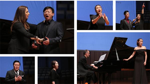 当天,公开大师课以青年歌唱演员演绎歌剧唱段,导师讲解示范的方式进行甘源/摄