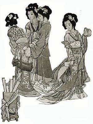 影雕《十二金钗》(局部)