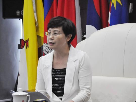 广西台办主任李东兴在接受媒体采访