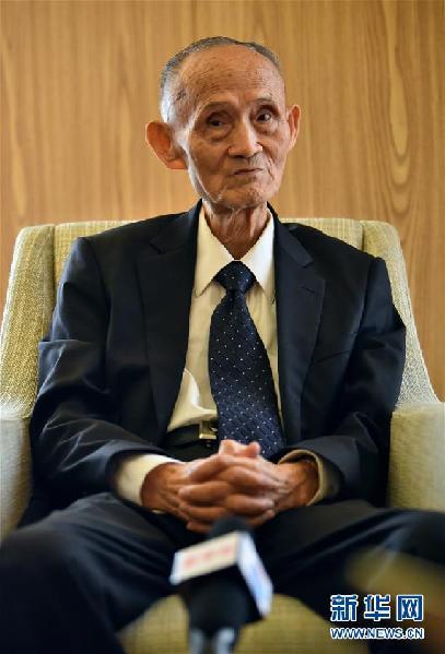 9月3日,高秉涵老先生在接受新华社记者的专访