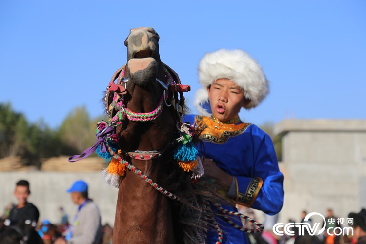 The first Silk Road Nadam Fair Cultural and Tourism Festival kicked off at the national sports center in Subei Mongol Autonomous County, Jiuquan city of northwestern China's Gansu province, on September 9, 2017.