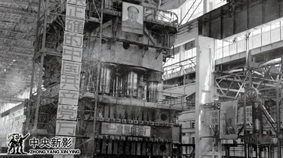"""112厂""""四大国宝""""之一的三万吨水压机"""