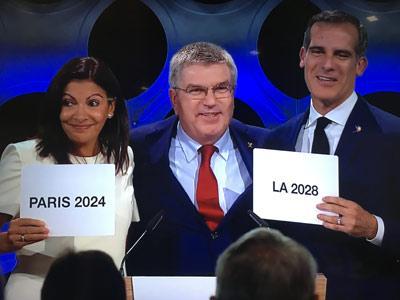 巴黎和洛杉矶正式成为2024和2028夏奥会主办国