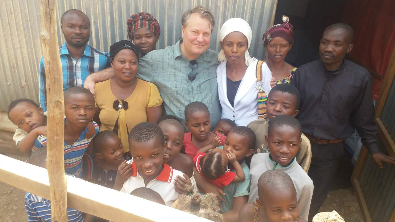 With people in the slum areas of Bukavu, DRC.
