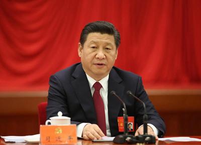 习近平在中国共产党第十八届中央委员会第四次全体会议上作重要讲话。(新华社记者 兰红光 摄)