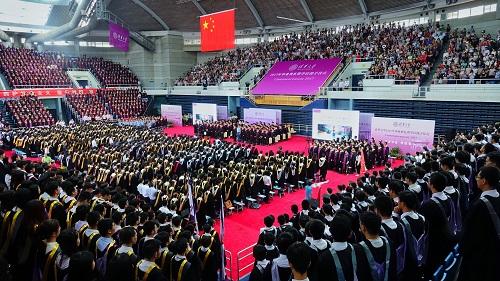 2017年7月2日,清华大学举行本科生毕业典礼。新华社记者 李欣 摄