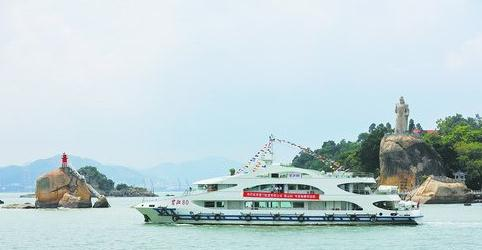 """市民游客将乘坐""""鹭江80""""客轮体验新航线"""