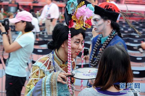 资料图:香港海洋公园在万圣节期间举办哈啰喂全日祭。