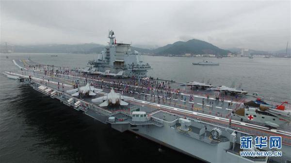 2017年7月8日,中国首艘航空母舰辽宁舰在香港开始向公众开放。