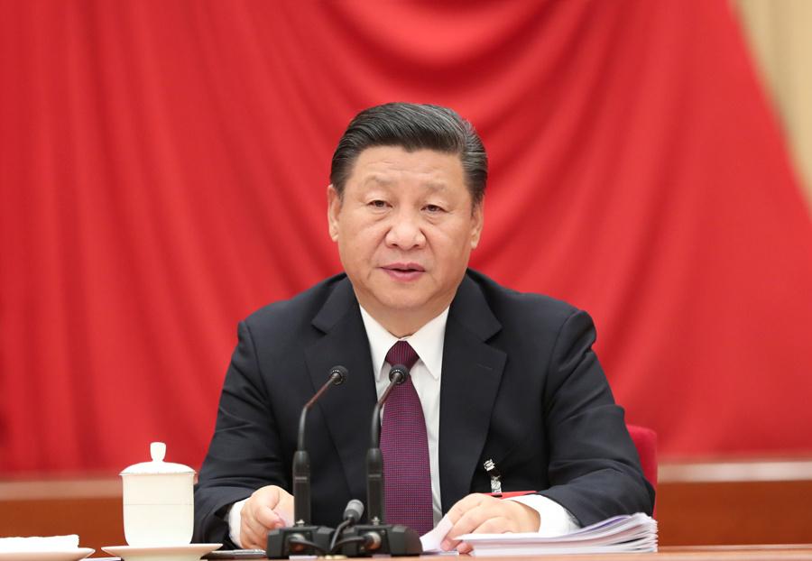 中国共产党第十八届中央委员会第七次全体会议,于2017年10月11日至14日在北京举行。中央委员会总书记习近平作重要讲话。新华社记者 马占成 摄