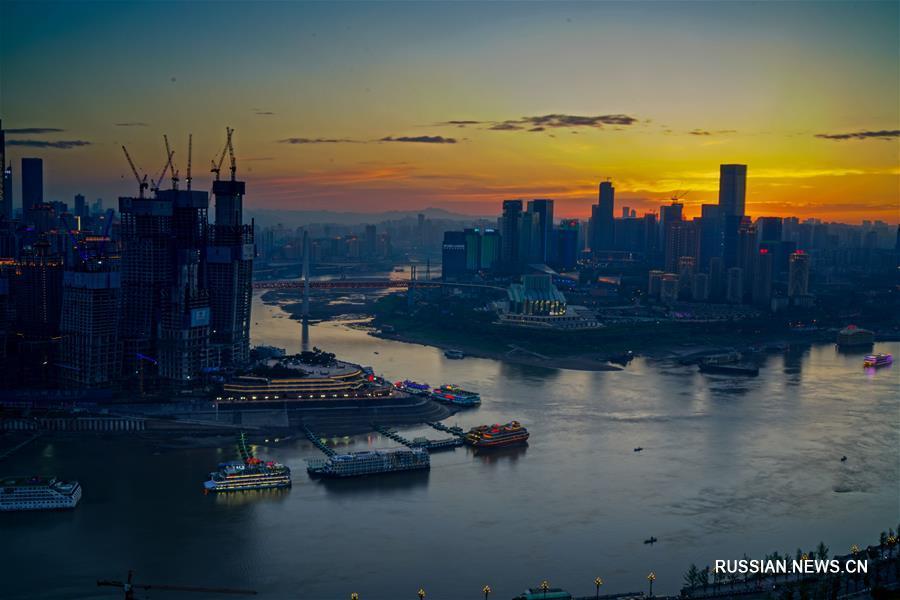 Экономическая зона бассейна Янцзы с высоты птичьего полета