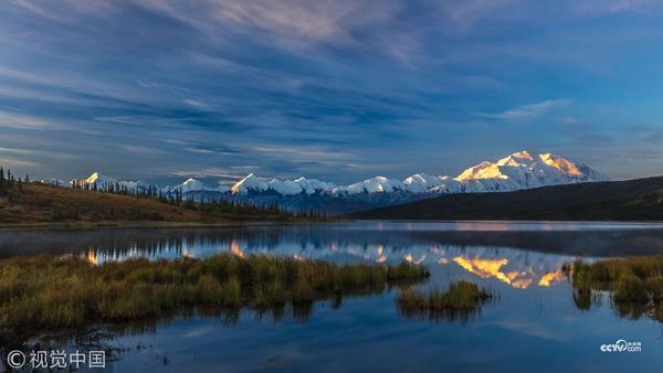 美国阿拉斯加,德纳里峰景致。