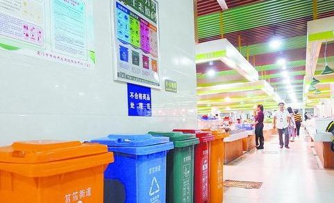 分类垃圾桶的投用,使市场环境明显改善
