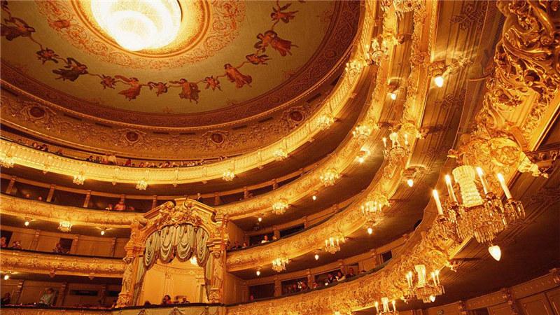 马林斯基剧院内景 图片来源:视觉中国