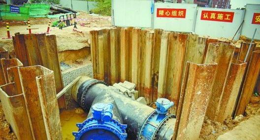 铺设的供水管道