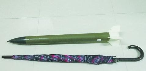 火箭弹约80厘米长