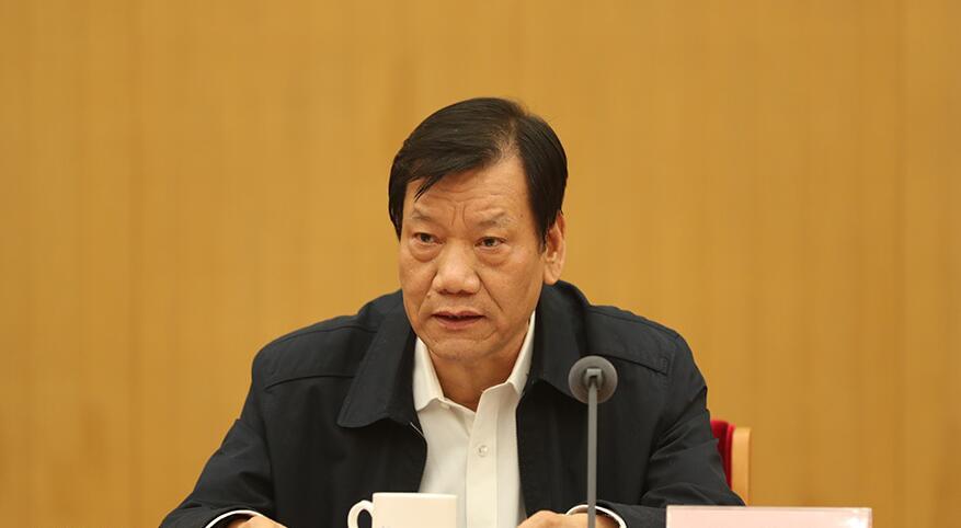 11月13日,科技部党组和全国科技厅党组学习党的十九大精神中心组主题联学在北京举行。图为中央国家机关工委副书记陈存根讲话。