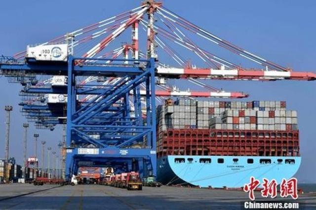 图为繁忙的厦门集装箱码头。(资料图片) 记者 王东明 摄