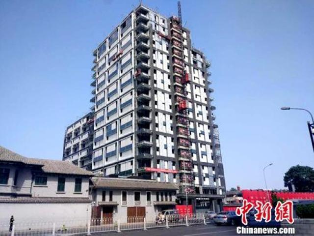 资料图:北京一处正在建设的楼房。记者 李金磊 摄