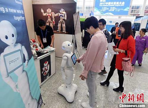 资料图:智能机器人。 中新社记者 刘可耕 摄