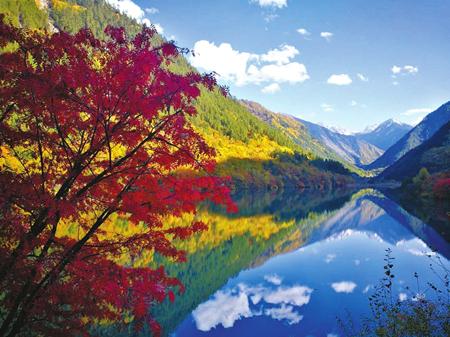 深秋的九寨沟。